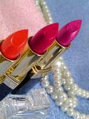 Make-up. Lipsticks close-up