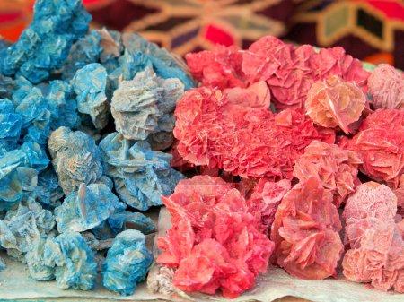 Colored desert roses in Tunisia