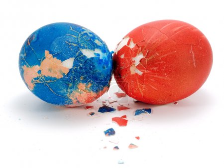 Photo for Beautiful Easter Eggs on background - Royalty Free Image