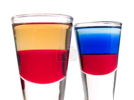 Photo pour Ingrédients pour Red Tequila, Cocktails Collection - Red Tequila et Russian Shot - image libre de droit