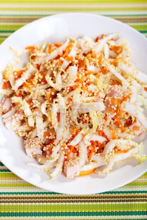 Photo for Chicken salad with quinoa and carrots - Royalty Free Image