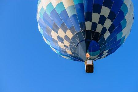 Hot air balloon flight view from below