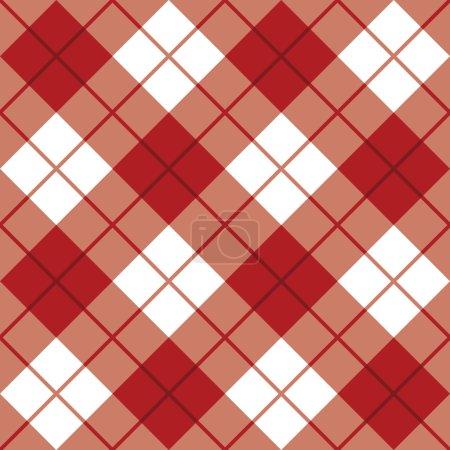 Bias Plaid Pattern in Red