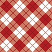 Classic diagonal plaid pattern in red and white repeats seamlessly