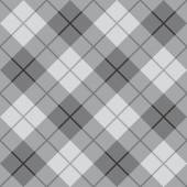 Classic diagonal plaid pattern in grey repeats seamlessly