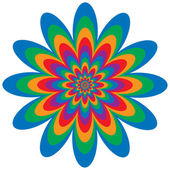 Infinite flower optical illusion design in primary and secondary colors Vector: Colors are grouped for easy editing