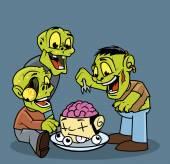 Skupina zombie jíst