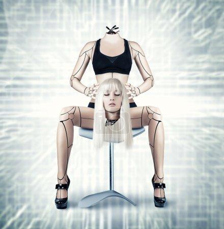 Sexy cyborg woman