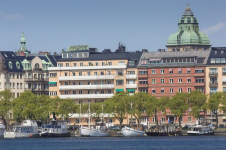 Scenic summer panorama in Stockholm, Sweden