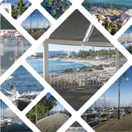 Photo pour Collage d'images Chypre - arrière-plan de voyage (mes photos ) - image libre de droit