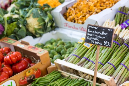 Photo for Fresh and organic vegetables at farmers market - Royalty Free Image