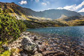 Mountain lake in 5 lakes valley in Tatra Mountains, Poland.
