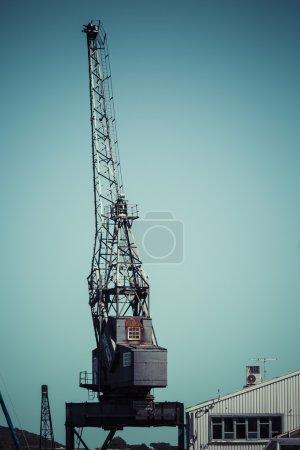 Photo for Dockside crane,Wellington harbour New Zealand. - Royalty Free Image