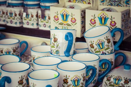 Photo for Traditional ceramic in local polish market. - Royalty Free Image