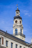 View of City hall tower and the main square in old city of Riga