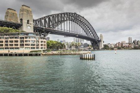 Sydney Harbour Bridge in a quiet spring sunrise in Sydney, Austr
