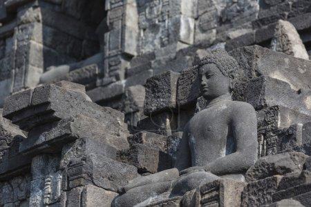Stoned image of Buddha in Borobudur, Indonesia