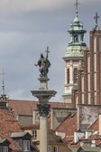 Old town in Warsaw, Poland. The Royal Castle and Sigismund's Col