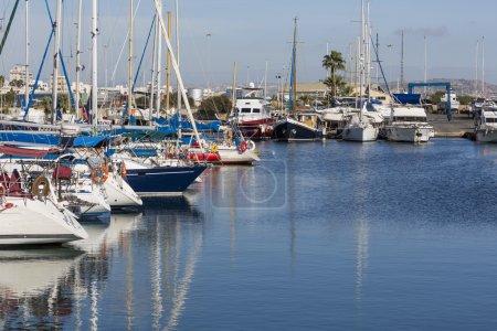 Yachts in Larnaca port, Cyprus.