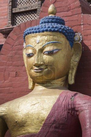 Photo pour Statue de Bouddha. Katmandou, Népa - image libre de droit