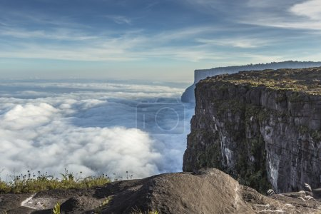 View from the Roraima tepui on Kukenan tepui at th...