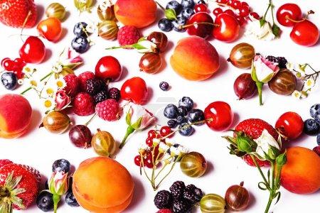 Color fresh fruits