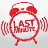 Last minute alarm clock icon vector illustration