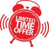 Limited time offer red label vector illustration