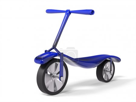 Photo for Blue kick scooter isolated 3d render - Royalty Free Image