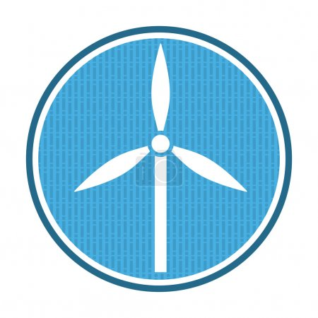 Wind power icon, illustration with abstract backgr...