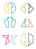 Vector illustration of Abstract Arrows for template