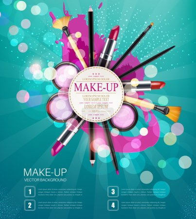 background with cosmetics and make-up