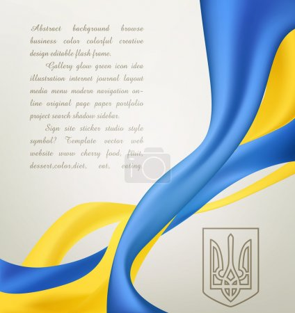 Abstract vector background with the symbols of Ukrainian