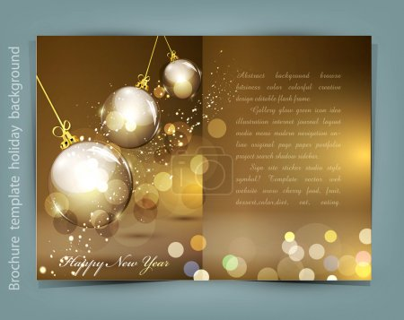 Vector festive background for Christmas and New Year