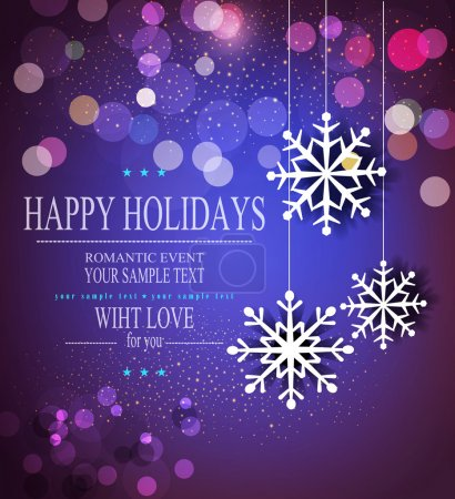 Photo for Vector Christmas holiday background with snowflakes - Royalty Free Image