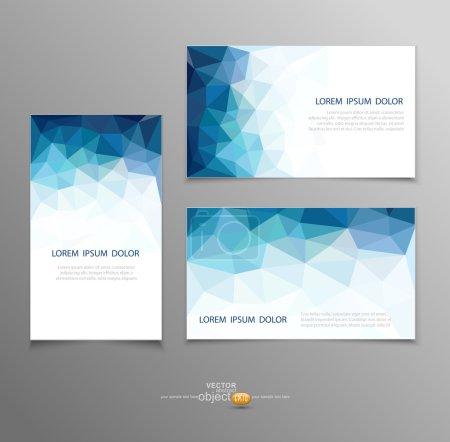 Illustration pour Modèles de cartes de visite abstraites vectorielles bleues - image libre de droit