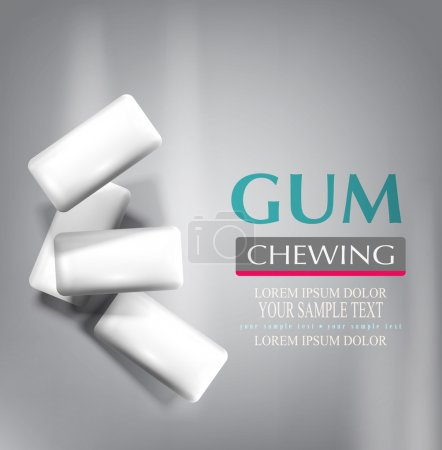 chewing gum on gray