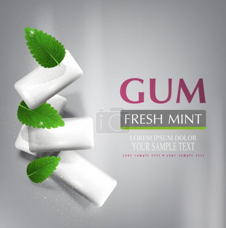 bubble gum with leaves