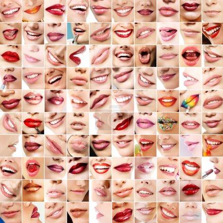 Perfect girl's lips.