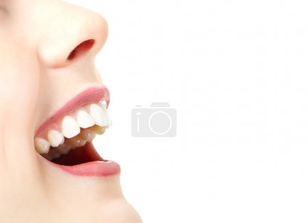 Woman with great healthy white teeth.