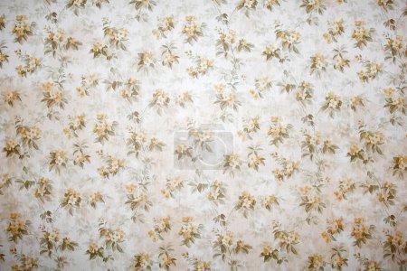 Photo pour Fond d'écran vintage avec motif floral fond - image libre de droit