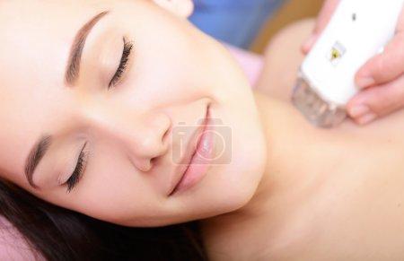 Woman having rejuvenated treatment