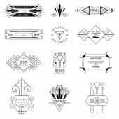 Art Deco Vintage Bilderrahmen und Design-Elemente - in Vektor