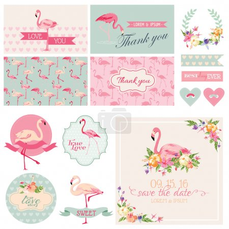 Flamingo Party Set - for Wedding, Bridal Shower, Party Decoration