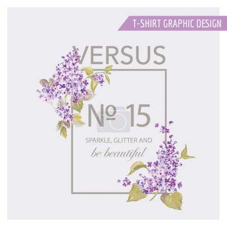 Illustration for Floral Graphic Design - for t-shirt, fashion, prints - in vector - Royalty Free Image