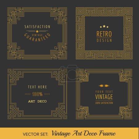 Art Deco Vintage ramki i elementy projektu - w wektor