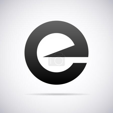 Vector logo for letter E. Design template