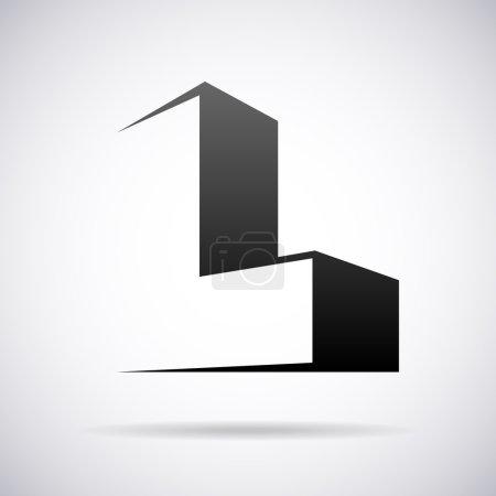 Logo vectoriel pour la lettre L. Modèle de conception