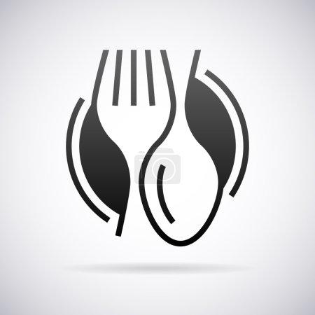 Illustration for Food service vector logo design template - Royalty Free Image