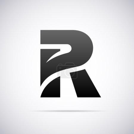 Logo vectoriel pour la lettre R. Modèle de conception